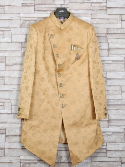 NGA7535560 - Exclusive Silk Jacquard Indo Western Suit