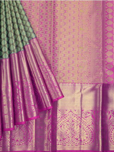 Vivaha Exclusive Bridal Pure Kanchipuram Handloom Silk Saree - MGB9421019