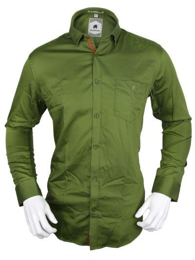 Zulus Festin Men's Formal Full Sleeve Satin Cotton Shirt - TUP-MED8324476