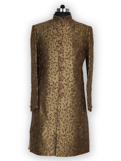NJB0447300 - Exclusive Heavy Jacquard Indo Western Suit