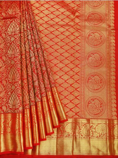 Goddess Vivaha Wedding Pure Silk Saree - OAA0000029