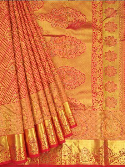 Vivaha Wedding Silk Stone Work Saree - OAC1818333