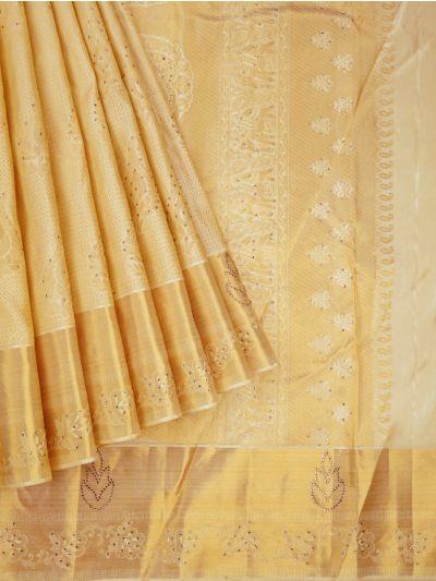 Vivaha Wedding Silk Stone Work Saree - NED2738610