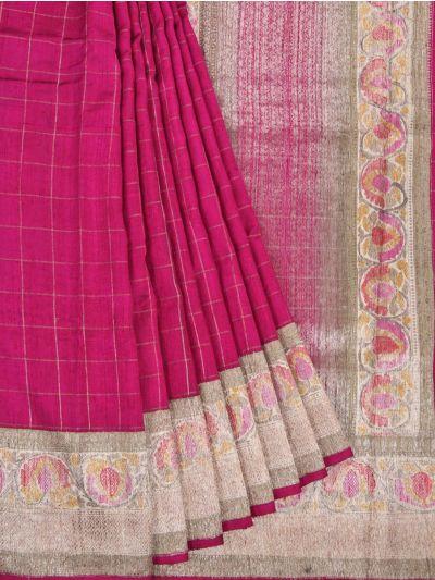 Chanderi Silk Saree - OAA0599505