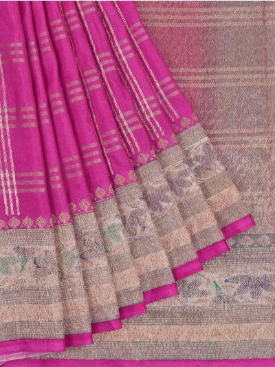 Chanderi Silk Saree - OAA0599500