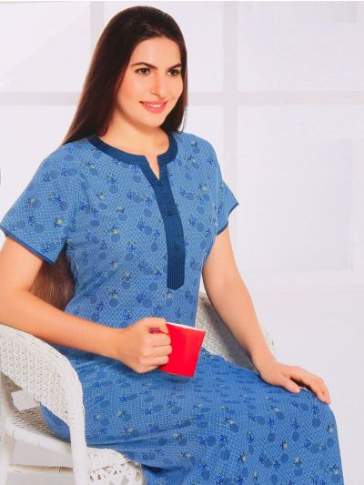 Women Cotton Nighty - OEA4785691