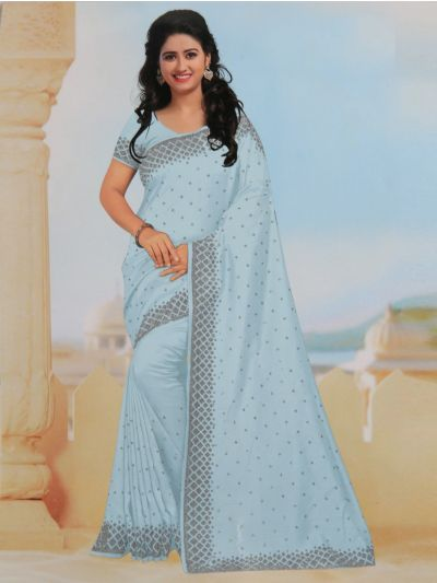 Yuvathi Synthetic Stone Work Saree - MIB3456134