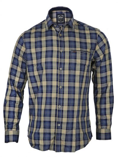 ZF Men's Casual Checks Cotton Shirt - MGA8045126