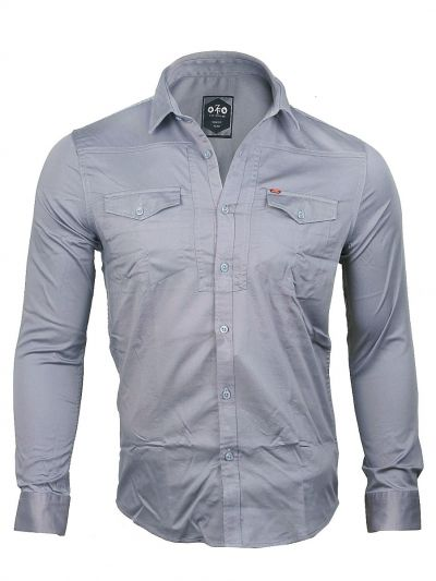 ZF Men's Casual Cotton Shirt - MGA8055775