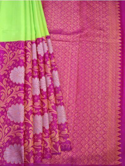 Goddess Vivaha Wedding Pure Half and Half Silk Saree - NCD0449466