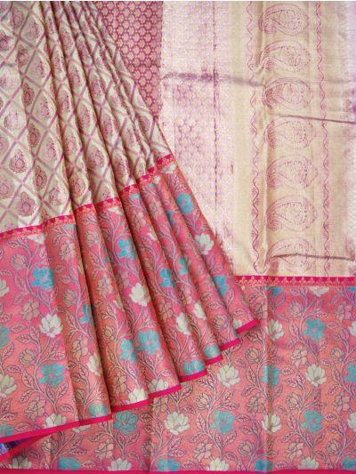 Vivaha Wedding Pure Kanchipuram Silk Saree - OFB8739560