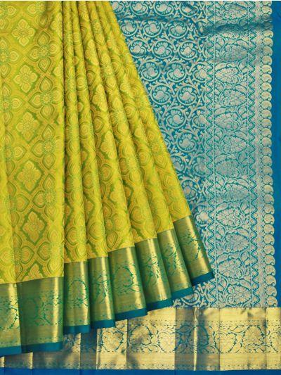Vivaha Green Wedding Silk Saree - OFB8006604