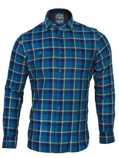 ZF Men's Casual Checks Cotton Shirt - MGA8046116