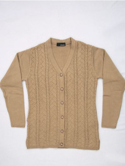 Women's Solid Woolen Sweater - MFB4314093