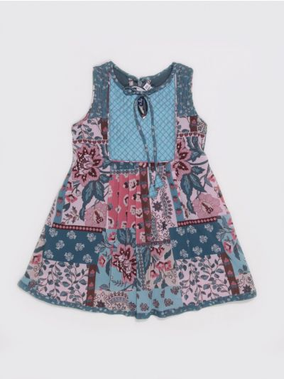 MKC9851390 - Girls Fancy Syn Frock