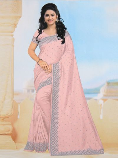 Yuvathi Synthetic Stone Work Saree - MIB3456132