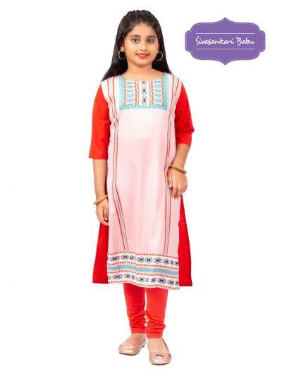 Sivasankari Babu Girls Crepe Readymade Top - MGC9941969