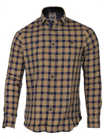 ZF Men's Casual Checks Cotton Shirt - MGA8046122