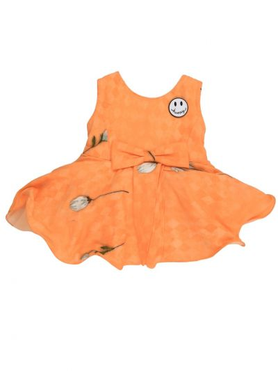 Girls Printed Synthetic Frock Dress - MGC0250447 Size-12(0 to 6 months)