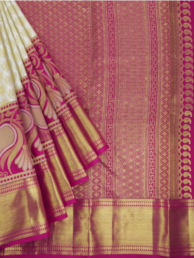 MGD0930092-Vivaha Wedding Pure Silk Saree