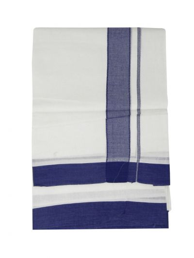 KKV Men's Cotton Fancy Border Dhoti - EKM - NDC1368537
