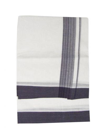 KKV Men's Cotton Fancy Border Dhoti - EKM - NDC1368525