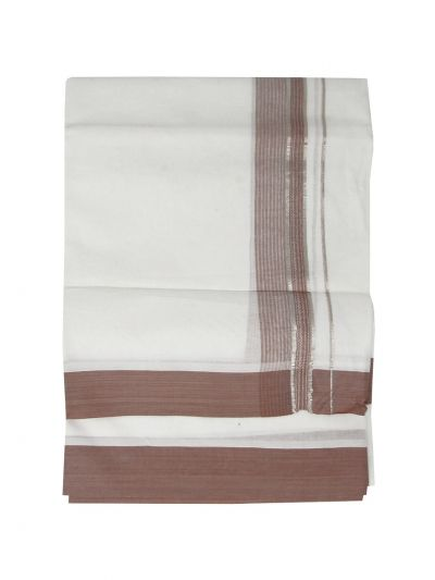 KKV Men's Cotton Fancy Border Dhoti - EKM - MKC9833176