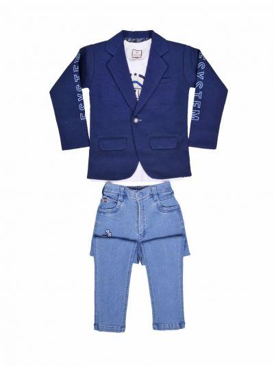 Exclusive Boys Blazer With T-Shirt - MKC9878196