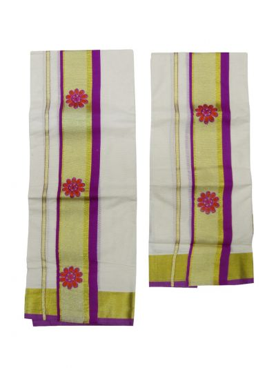 Women's Kerala Set Mundu Saree  - EKM - NJD1505990