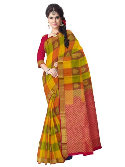 Bairavi Traditional Multicolor Silk Saree