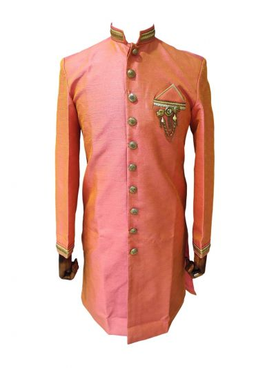 Exclusive Men Celebrant  Raw Silk Indo Western Suit - EKM