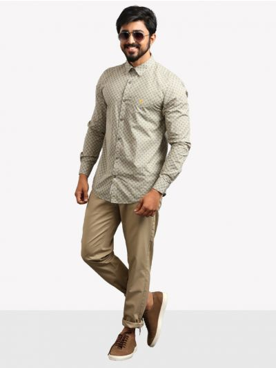 ZF Men's Casual Cotton Shirt