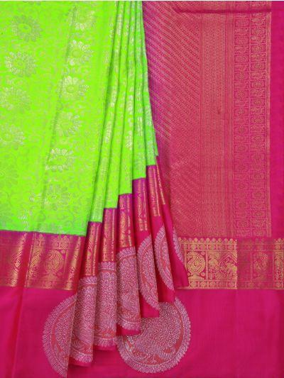 Goddess Handloom Pure Kanchipuram Silk Saree - NDB0922339