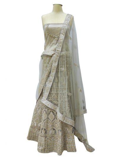 Semi-Stitched Lehenga & Blouse with Dupatta-NEC2203269 -EKM
