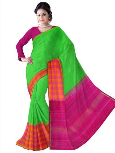 Estrila Kanchipuram Green Silk Saree - LJE2051994
