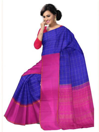 Estrila Kanchipuram Blue Silk Saree - LJE2052007