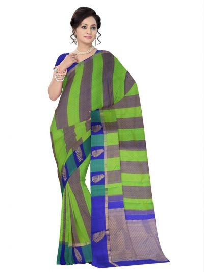 Estrila Kanchipuram Multicolor Silk Saree - LLD6584364