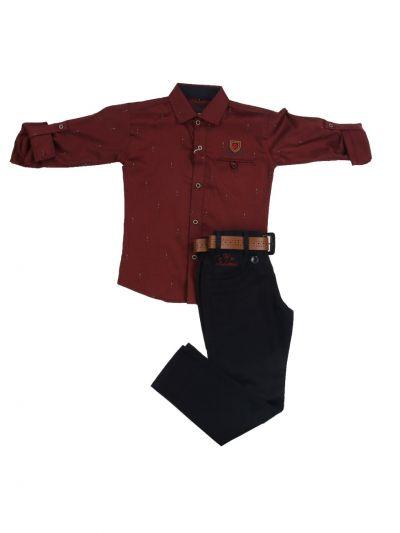 Boys Casual Shirt and Pant Set - MJD8427086