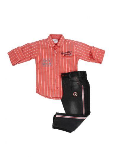 Boys Casual Shirt and Pant Set - MJA6433955