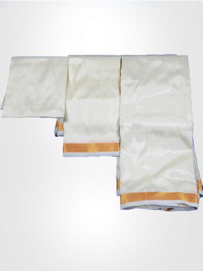 Vivaha Art Silk Shirt & Dhoti Fabric Set - PMSD002