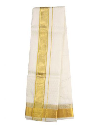 Vivaha Fancy Border Silk Dhoti and Angavastram - ODC3206472