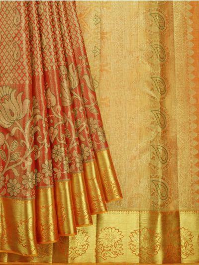 Vivaha Goddess Handloom Wedding Kanchipuram Silk Saree - NEC2321458