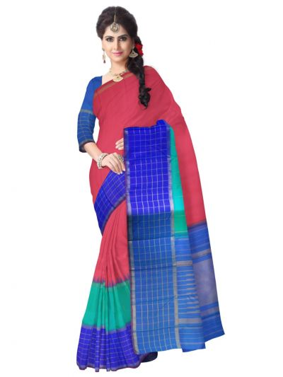 Estrila Kanchipuram Multicolor Silk Saree - LLB6121255