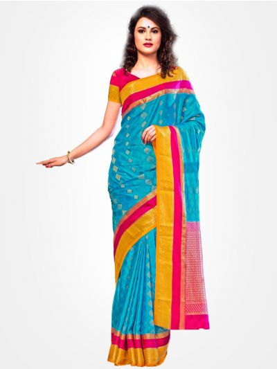 Mysore Silk Saree - Blue -MCSS07