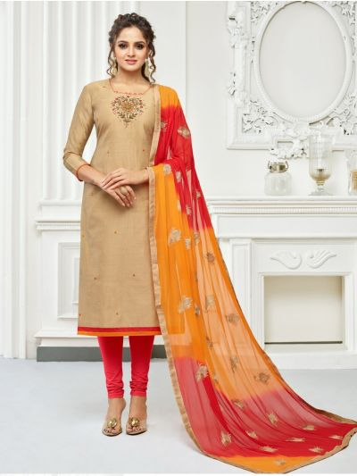 MCB8918103-Isabella Women's Jharna Silk with Hand Work Dress Material