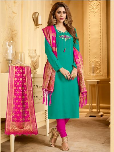 Isabella Women's Cotton Dress Material - KANCHI1004