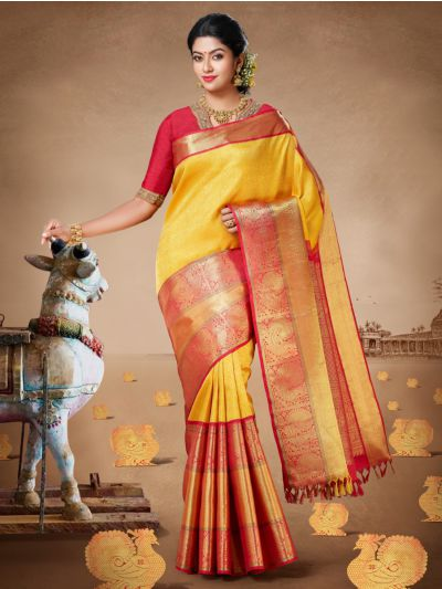 Vivaha Goddess Kanchipuram Silk Saree