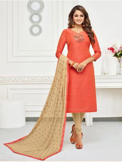 Isabella Women's Jharna Silk with Hand Work Dress Material-JSHWDM1005