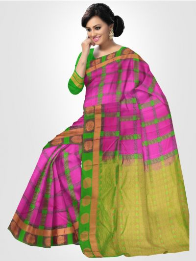Bairavi Violet Traditional Silk Saree
