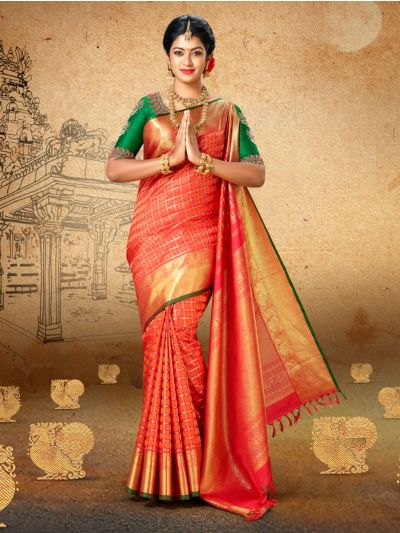 Vivaha Goddess Pure Kanchipuram Handloom Silk Saree